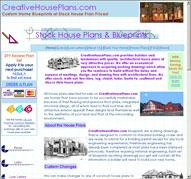 CreativeHousePlans.com home page image